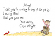 Pirate and Parrot Stationery
