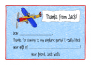 Airplane Folded Notecard