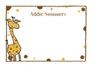 Girl Giraffe Address Labels