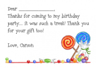 Candy Border Flat Card