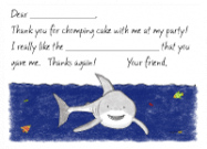 Shark Flat Card Stationery