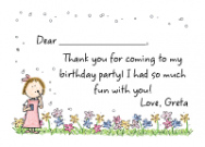 Girl With Bubbles Invitations