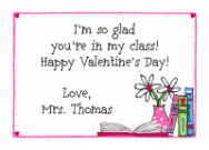 Valentine Books Card