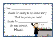 Science Boy Invitations