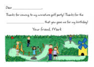 Miniature Golf Invitations