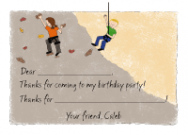 Rock Climbing Invitations