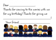Movie Theater Flat Notecard