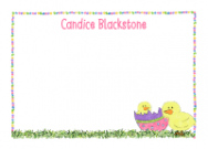 Easter Chicks Flat Notecard
