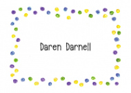 Happy Green Dots Border Calling Card Design