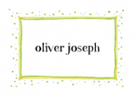 Green Speckled Border Birth Announcements