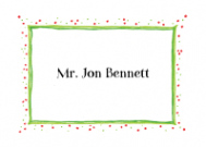 Red And Green Speckled Border Stationery