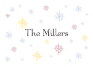 Winter Snowflakes Stationery