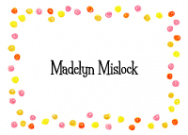 Happy Pink Dots Border Calling Card Design