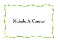 Petite Border Calling Card Design