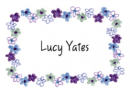 Lucy's Purple Border Birth Announcements