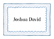 Triple Blue Border Calling Card Design