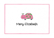 Pink And Green Ladybug Stationery