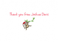 Holiday Monkey Address Labels