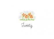 Tweetys Orange Daisies Stationery