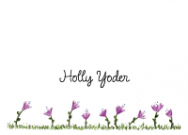 Purple Flowers Flat Card
