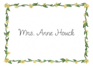 Yellow Vine Border Stationery