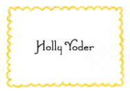 Yellow Scallop Border Stationery