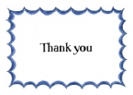 Blue Flare Border Stationery