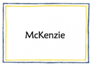 Blue And Yellow Line Border Flat Card
