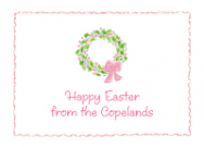 Easter Wreath Thank You Note