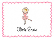 Blonde Ballerina Stationery Envelope