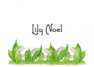 Lilies Of The Valley Personal Calling Cards