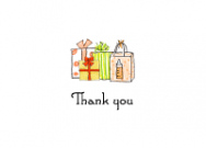 Neutral Baby Gifts Thank You Note