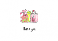 Pink Baby Gifts Thank You Note