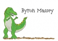 Green Dinosaur Address Labels