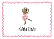 African American Ballerina Thank You Note