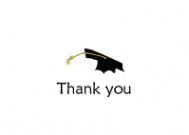 Brunette Girl Graduation Thank You Note