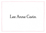 Light Pink Line Border Thank You Note
