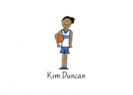 African American Basketball Girl Flat Note Card