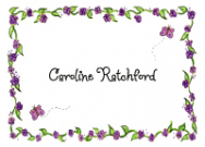 Caroline Purple Border Thank You Note