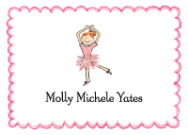 Red Head Ballerina Flat Note Card
