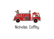 Fire Truck Flat Note Card