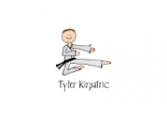 Karate Girl Folded Notecard