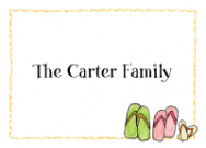 Flip Flop Family Of 4 Folded Notecard