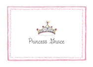 Brunette Princess Flat Note Card