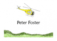 Yellow Helicopter Folded Notecard