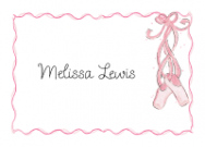 Red Head Ballerina Invitations
