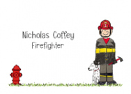 Firefighter Folded Notecard