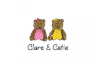 Two Girl Bears Folded Notecard