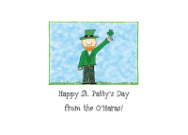 Irish Leprechaun Folded Notecard