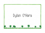 Clover Patch Folded Notecard